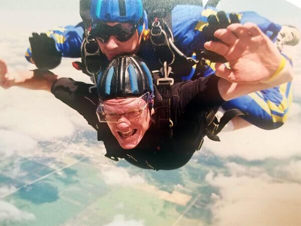 David skydiving