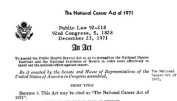 National Cancer Act of 1971 image